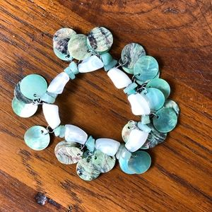 Green Stone Stretchy Bracelet